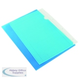 Q-Connect Cut Flush Folder A4 Blue (100 Pack) KF01486