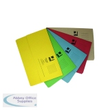 Q-Connect Document Wallets Foolscap Assorted (50 Pack) KF01490