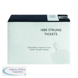 White 37x24mm Strung Ticket (1000 Pack) KF01618