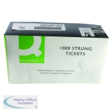 White 70x44mm Strung Ticket (1000 Pack) KF01622