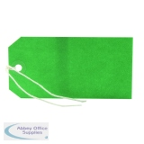 Green 120x60mm Strung Tag (1000 Pack) KF01624