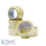Q-Connect Polypropylene Packaging Tape 50mmx66m Clear (6 Pack) KF01791