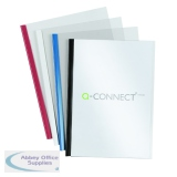 Q-Connect A4 5mm Slide Binder and Cover Set Black (100 Pack) KF01940