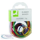 Q-Connect Rubber Bands Assorted Sizes Coloured 15g (10 Pack) KF02032Q