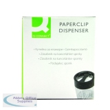 Q-Connect Black and Clear Magnetic Paperclip Dispenser KF02133