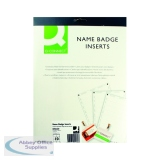Q-Connect Name Badge Inserts 54x90mm 10 Per Sheet (25 Pack) KF02289