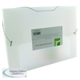 Q-Connect Clear Elasticated Box File KF02310