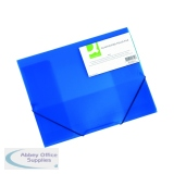 Q-Connect Elasticated Folder 3 Flap A4 Blue KF02312