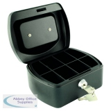 Q-Connect Cash Box 6 Inch Black KF02601