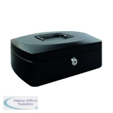 Q-Connect Cash Box 12 Inch Black KF02604