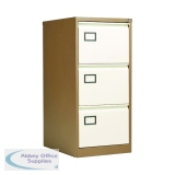 Jemini Coffee/Cream 3 Drawer Filing Cabinet KF03004