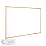 Q-Connect Wooden Frame Whiteboard 600x900mm KF03571