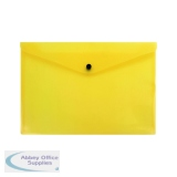 Q-Connect Polypropylene Document Folder A4 Yellow (12 Pack) KF03595