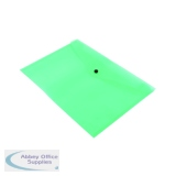 Q-Connect Polypropylene Document Folder A4 Green (12 Pack) KF03597