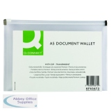 Q-Connect Clear A5 Document Zip Wallet (10 Pack) KF03672