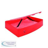 Q-Connect Polypropylene Red Box Foolscap File KF04104