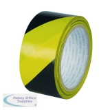 Q-Connect Yellow Black Hazard Tape (6 Pack) KF04383