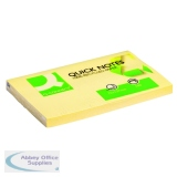 Q-Connect Recycled Quick Notes 76 x 127mm Yellow (12 Pack) KF05610