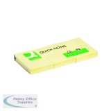Q-Connect Repositionable Quick Notes 38 x 51mm Yellow (12 Pack) KF10500
