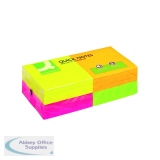 Q-Connect Quick Notes 76 x 76mm Neon (12 Pack) KF10508
