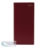Portrait Burgundy Slim 2019 Diary Week To View KF1BG19