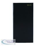 Portrait Black Slim 2019 Diary Week To View KF1BK19