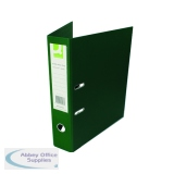 Q-Connect 70mm Lever Arch File Polypropylene Foolscap Green (10 Pack) KF20028