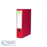 Q-Connect Lever Arch File Paperbacked Foolscap Red (10 Pack) KF20031