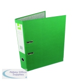Q-Connect Lever Arch File Paperbacked Foolscap Green (10 Pack) KF20032