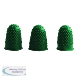 Q-Connect Green Rubber Thimblettes Size 0 (12 Pack) KF21508