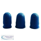 Q-Connect Blue Rubber Thimblettes Size 1 (12 Pack) KF21509