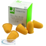 Q-Connect Yellow Thimblette Size 2 (12 Pack) KF21510