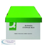 Q-Connect Green and White Business Storage Box 335x400x250mm (10 Pack) KF21660