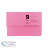 Q-Connect Document Wallet Foolscap Pink (50 Pack) KF23015