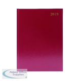 Burgundy A4 2 Pages Per Day 2018 Desk Diary KF2A4BG18