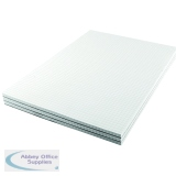 Q-Connect 5mm Quadrille Board Back Memo Pad 160 Pages A4 (10 Pack) KF32008
