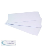 Q-Connect Pocket DL Envelope 100gsm Self Seal White (500 Pack) 8027