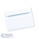 Q-Connect C6 Envelope Wallet Self Seal 90gsm White (1000 Pack) 7042