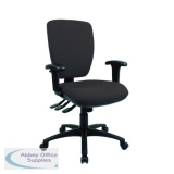 Cappela Square Back Posture Chair Black KF71364