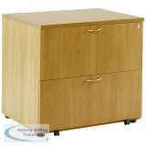 Arista Oak Desk High Side Filer KF72417