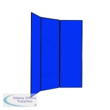 Q-Connect Multi-Fold Jumbo Display Screen Black Frame 2700x1800mm Blue FN2BLA6