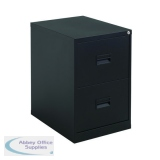 Talos 2 Drawer Filing Cabinet Black KF78762
