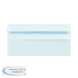 Q-Connect DL Envelope Self Seal 120gsm White (1000 Pack) 81414