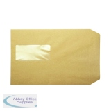 Q-Connect C5 Envelopes Window Pocket Peel and Seal 115gsm Manilla (500 Pack) KF97370