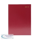 Burgundy A4 Week To View 2019 Desk Diary KFA43BG19