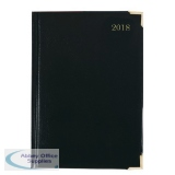 Executive A5 Day/Page 2018 Black Diary KFEA51BK18