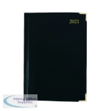 Executive Diary Day Per Page A5 Black 2021 KFEA51BK21