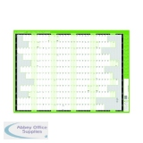 Q-Connect Fiscal Planner Mounted 855 x 610mm 2021-22 KFFPM21