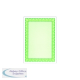 Decadry Certificate A4 Paper 115gsm Emerald Green (25 Pack) OSD4054
