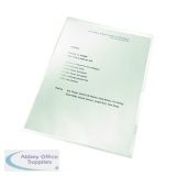 Leitz Re:Cycle Cut Flush Folders Clear (100 Pack) 4001-00-03